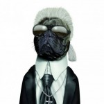 Animale costumate - caine Karl Lagerfeld
